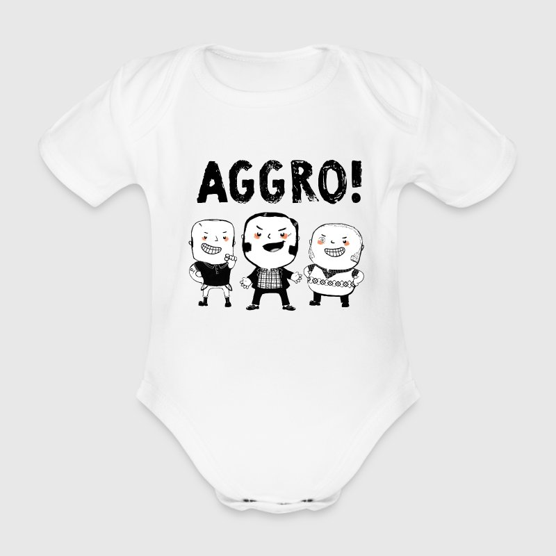 AGGRO Boys don't fear! T-Shirts - Organic Short-sleeved Baby Bodysuit