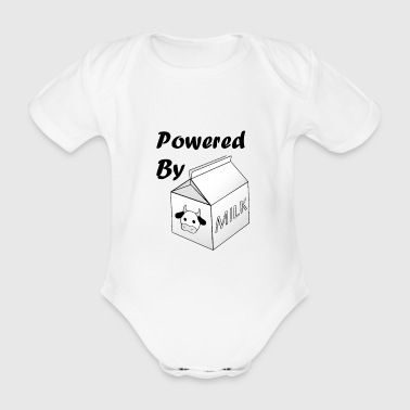 Powered By Milk - Organic Short-sleeved Baby Bodysuit