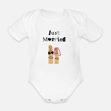 Just married fingers - Body bébé bio manches courtes