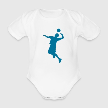 Volley Sillhouette - Organic Short-sleeved Baby Bodysuit