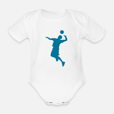 Volley Volley Sillhouette - Organic Short-Sleeved Baby Bodysuit