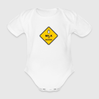 Milk on Board - Organic Short-sleeved Baby Bodysuit