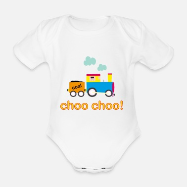Car Choo Choo Train Baby Onesie - Organic Short-sleeved Baby Bodysuit