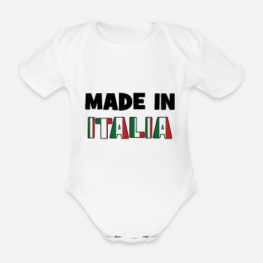 Italie Made in ITALIA ! - Body bébé bio manches courtes