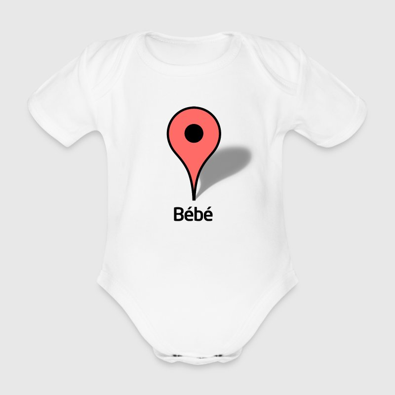 Google Map icon Bébé - Body bébé bio manches courtes