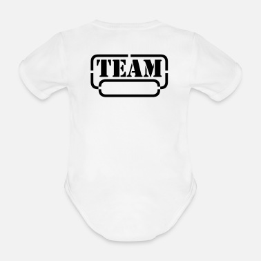 Skämt name your team - Ekologisk kortärmad babybody