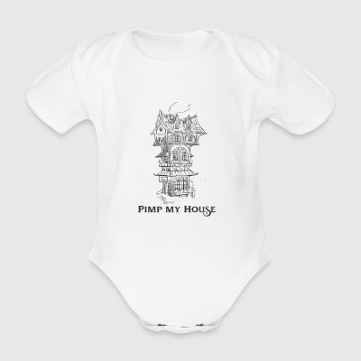 House - Organic Short-sleeved Baby Bodysuit