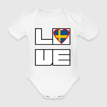 Love Land Roots Schweden - Baby Bio-Kurzarm-Body
