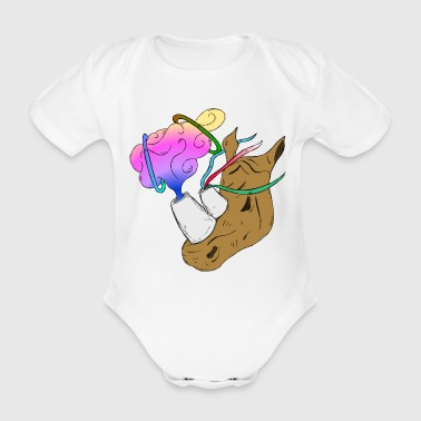 Fantastic Rhinoceros - Organic Short-sleeved Baby Bodysuit