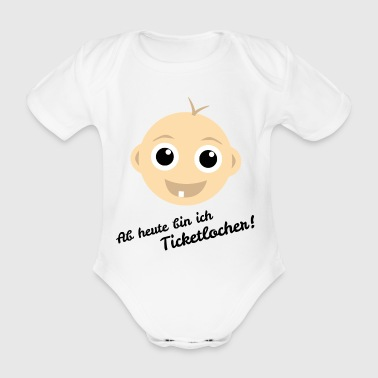 Baby Zahn Ticketlocher - Baby Bio-Kurzarm-Body