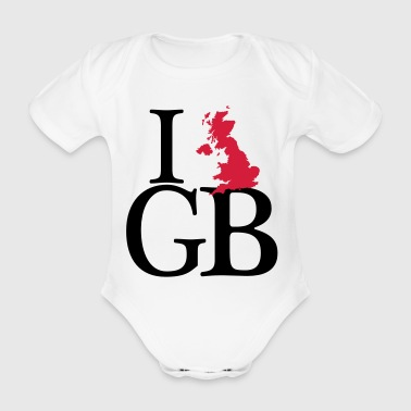 I love GB - I love Great Britain - Baby Bio-Kurzarm-Body