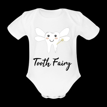 Tooth Fairy Zahn Fee / Geschenk Idee - Baby Bio-Kurzarm-Body