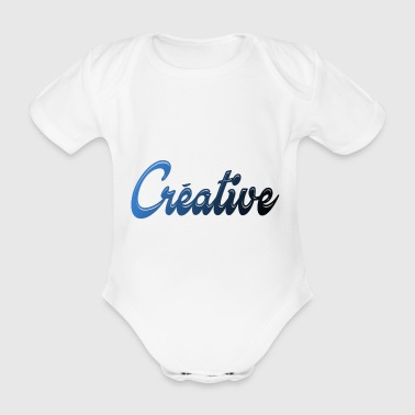 creative - Organic Short-sleeved Baby Bodysuit