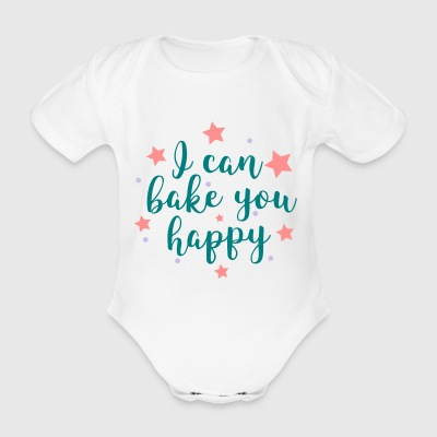 to bake - Organic Short-sleeved Baby Bodysuit