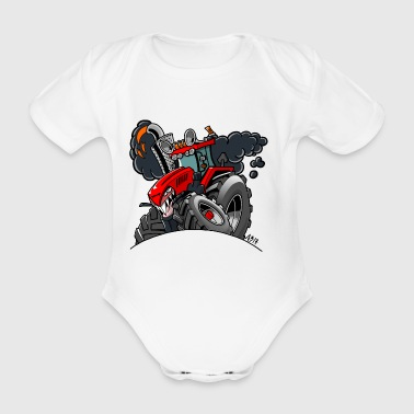 TRACTOR - Organic Short-sleeved Baby Bodysuit
