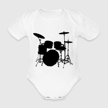 Drums - Organic Short-sleeved Baby Bodysuit