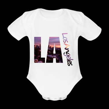 LA - Los Angeles - Organic Short-sleeved Baby Bodysuit
