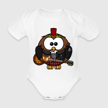 owl punk - Organic Short-sleeved Baby Bodysuit