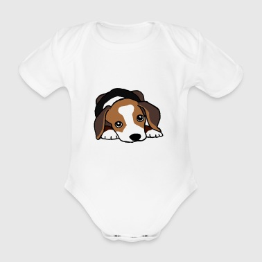 Jack Russell Terrier dog - Organic Short-sleeved Baby Bodysuit