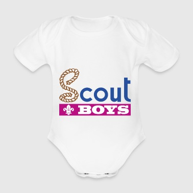 Scout Boys - Organic Short-sleeved Baby Bodysuit