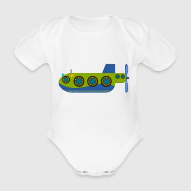 Turbine submarine - Organic Short-sleeved Baby Bodysuit