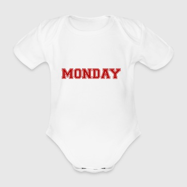 monday - Organic Short-sleeved Baby Bodysuit