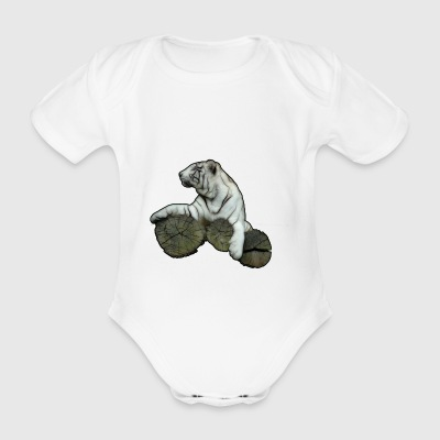 tiger - Organic Short-sleeved Baby Bodysuit