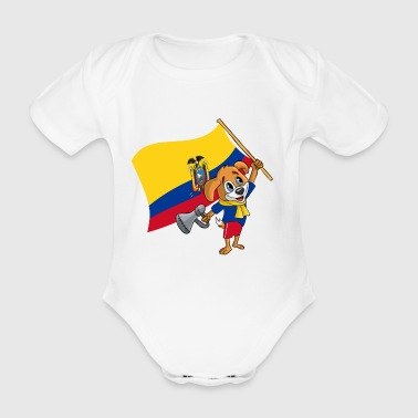 Ecuador fan dog - Organic Short-sleeved Baby Bodysuit
