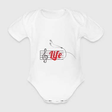 Music is life - Organic Short-sleeved Baby Bodysuit