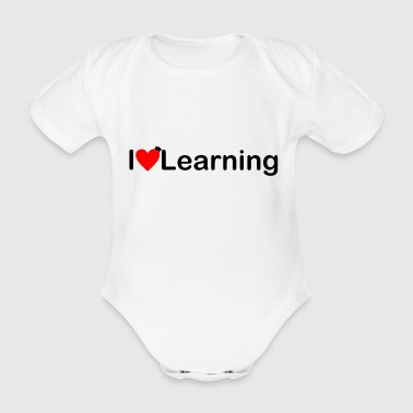 I love learning | I love learning - Organic Short-sleeved Baby Bodysuit