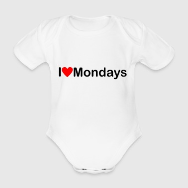 Monday | I love Mondays - Organic Short-sleeved Baby Bodysuit