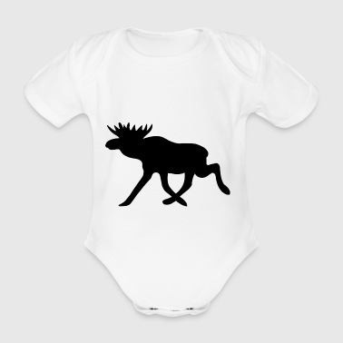 Moose - Organic Short-sleeved Baby Bodysuit