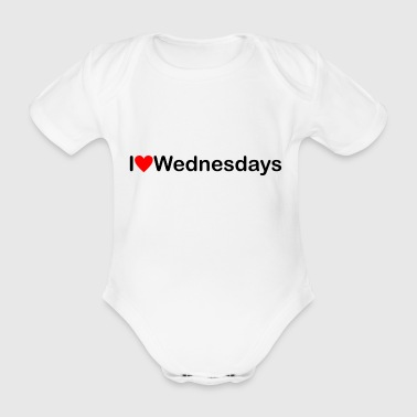 Wednesday | I love Wednesdays - Organic Short-sleeved Baby Bodysuit
