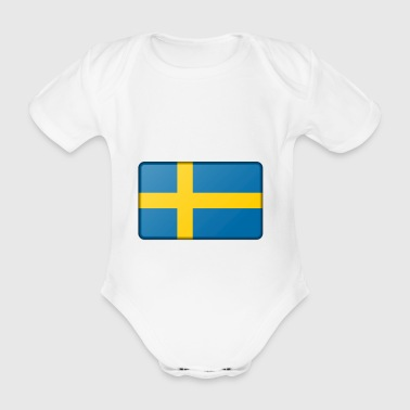 Sweden banner - Organic Short-sleeved Baby Bodysuit