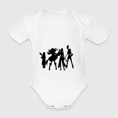 Silhouettes - Organic Short-sleeved Baby Bodysuit