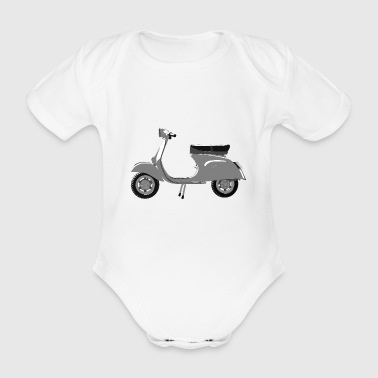 Classic scooter greys - Organic Short-sleeved Baby Bodysuit
