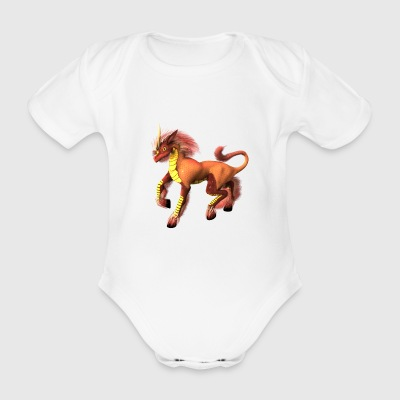 Dragon - Organic Short-sleeved Baby Bodysuit