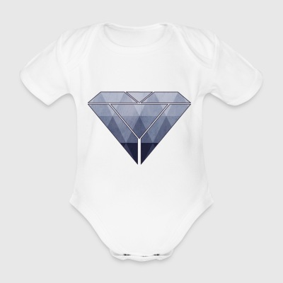 abstract diamond - Baby Bio-Kurzarm-Body