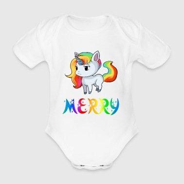 Unicorn Merry - Organic Short-sleeved Baby Bodysuit