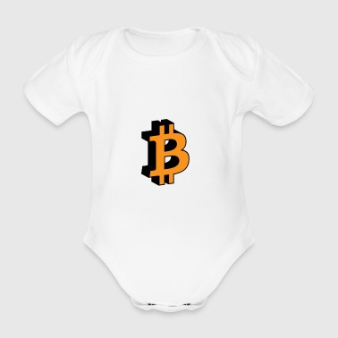 Bitcoin 3D icon - Organic Short-sleeved Baby Bodysuit