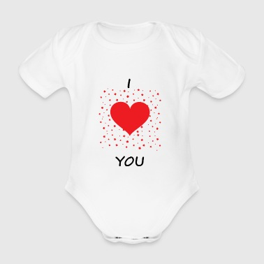 Love affection gift - Organic Short-sleeved Baby Bodysuit