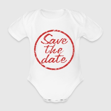 Save the Date Stempel - Baby Bio-Kurzarm-Body
