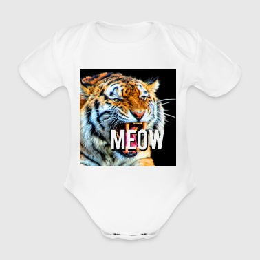 meow - Organic Short-sleeved Baby Bodysuit