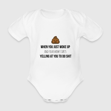 When you just woke up - Organic Short-sleeved Baby Bodysuit
