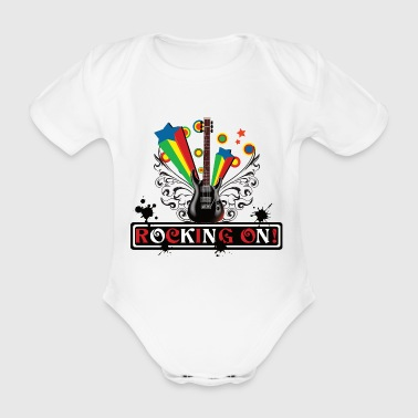 Rocking ON! design - Organic Short-sleeved Baby Bodysuit