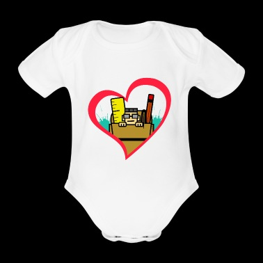 I Love Nerds with Glasses Work Bags School Bag - Organic Short-sleeved Baby Bodysuit