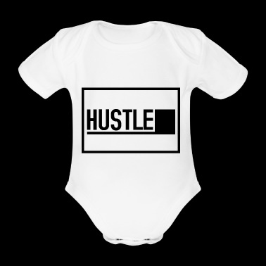 HUSTLE - Organic Short-sleeved Baby Bodysuit