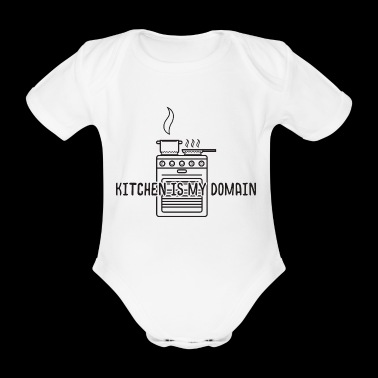 Cook kitchen cook gift stove pot hobby profession - Organic Short-sleeved Baby Bodysuit
