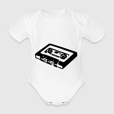 Audio Cassette - Organic Short-sleeved Baby Bodysuit