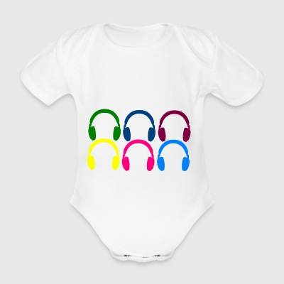 headphone - Organic Short-sleeved Baby Bodysuit